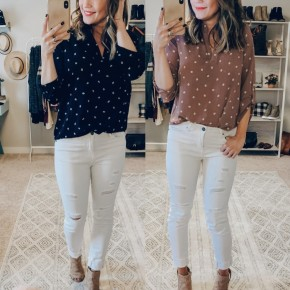 3/4 Sleeve Summer Print Top- 2 Colors