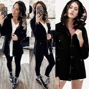Black Hooded Utility Jacket