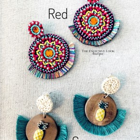 Red Or Green Flare Earrings