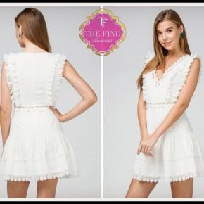 Charlotte Dress in White