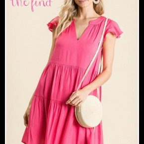 Sally Dress in Fuchsia