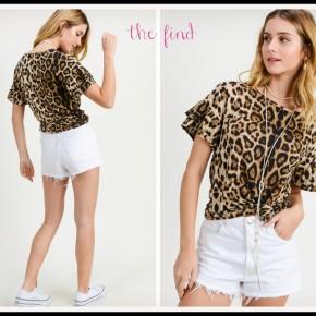 Jenny Leopard Top