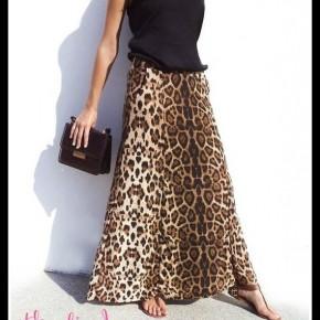 Gemma Leopard Skirt
