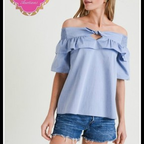 Mills Top in Chambray