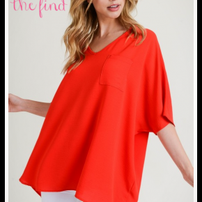 Lily Top in Tomato