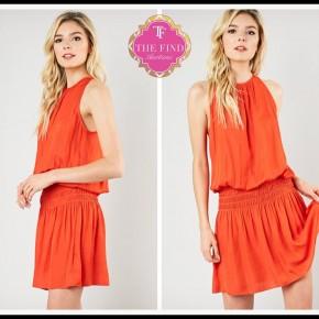 Beller Dress in Orange