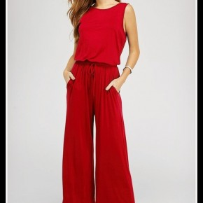 Ariana Jumpsuit in Red