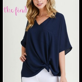 Lily Top in Navy