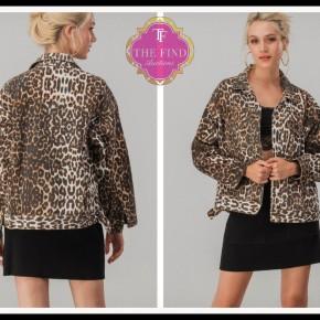 Carly Leopard Jean Jacket