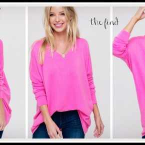 Riley Sweater in Pink