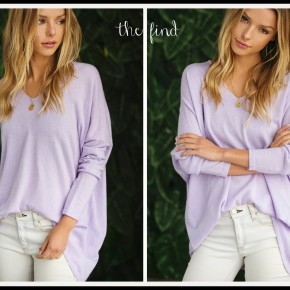 Riley Sweater in Lavender