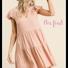 Sally Dress in Taupe
