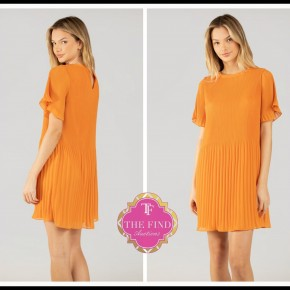 Sarah Dress in Tangerine