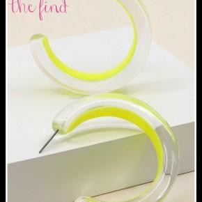 Palm Springs Earrings in Yellow