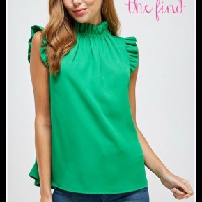 Maggie Top in Kelly Green
