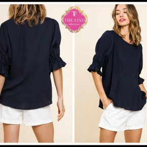 Tate Top in Navy