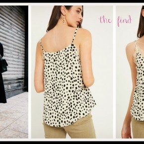 Avery Leopard Cami in Ivory