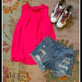 Morgan Top in Hot Pink
