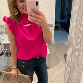 Maggie Top in Hot Pink