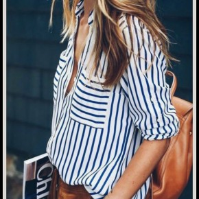 Anna Striped Button Up