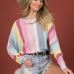 The Pastel Striped Long Sleeve