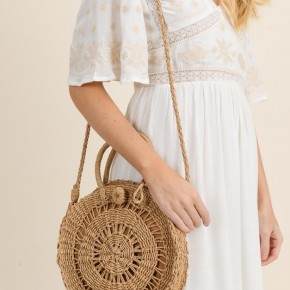 The Round Wicker Purse