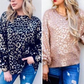 The Metallic Leopard Sweater