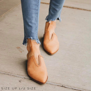 V-Top Leather Mule
