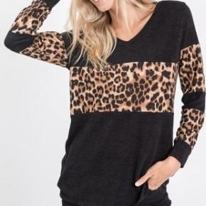 The V Neck Leopard Top