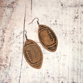 The Leather Football Earring