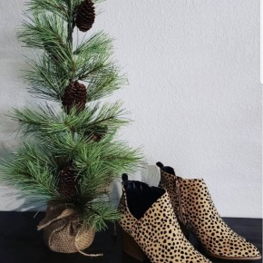 Pointy Toe Leopard Nava Booties