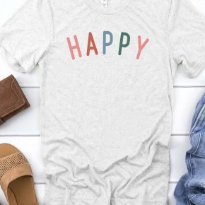 HAPPY Colorful Graphic Tee
