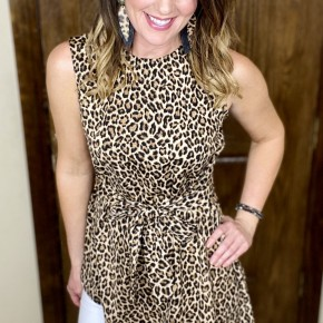 Work To Play - Leopard Sleeveless
