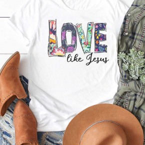 Floral Fun 'Love like Jesus' Graphic Tee