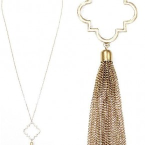 Gold Mosaic with Chain Tassel