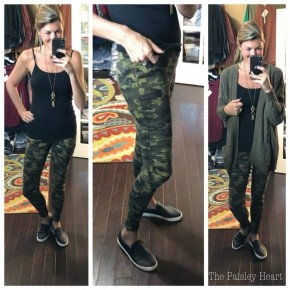 Camo Moto Jeggings with Zipper Hem