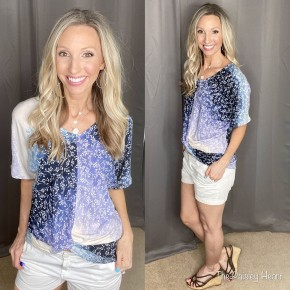 Perry Front Twist Ombre Top