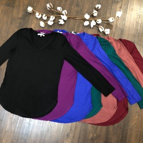 Must Have V-Neck - Long Sleeve *Final Sale*