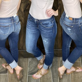 Judy Blue Straight Leg Cuffed Denim