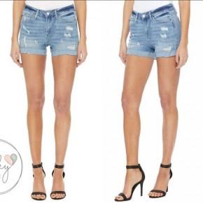 Judy Blue Distressed Cuffed Shorts