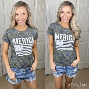 'Merica Flag Camo Tee - LMTD//NO RESTOCK