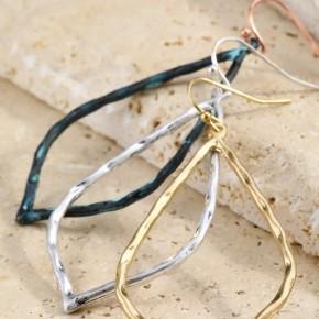 Hammered Metal Marquee Earrings *Final Sale*