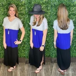 Easy Colorblock Maxi Dress