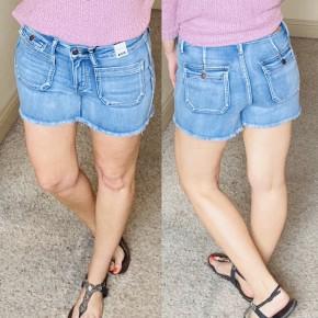 Judy Blue Stretch Patch Pocket Shorts