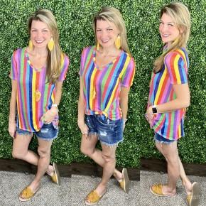 Vivid Stripes of Summer