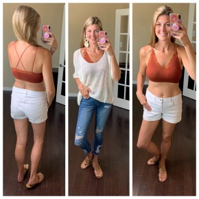 Lace Lining Seamless Bralette