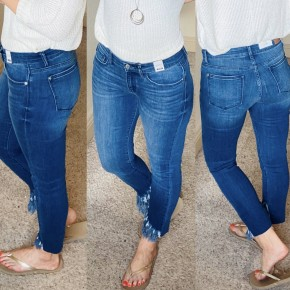 Judy Blue Frayed Bottom Skinny Jeans