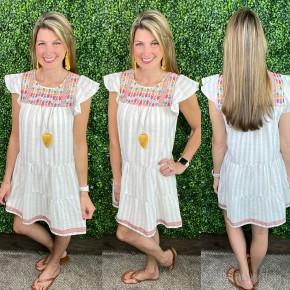 Boho Babe Embroidered Dress