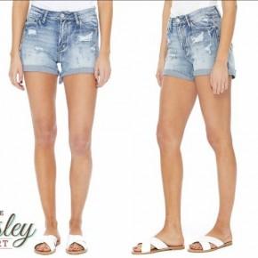 Judy Blue High Waist Shorts - Lightwash