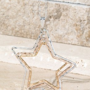 Layered Stars Necklace and